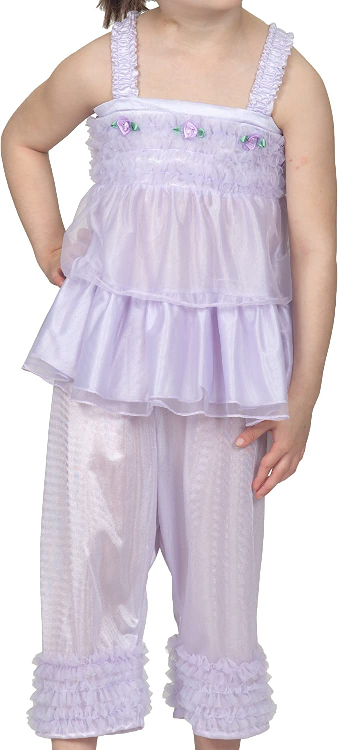 Laura Dare Baby Girls Solid Colors BO Peep Style PJ Set w Scrunchie, 6-24m
