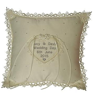 Personalised Wedding Bearer Ring Cushion My Sweetheart Amazon