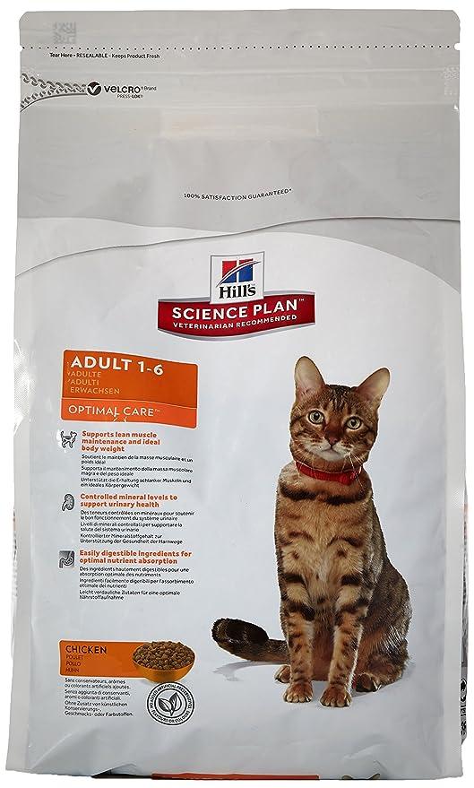 Hill`s Science Plan Alimento con Sabor a Pollo para Gatos Adultos - 2 kg
