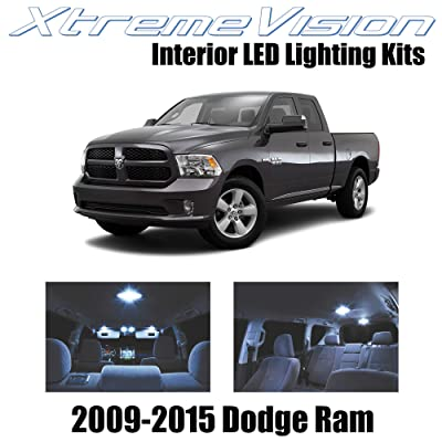 Xtremevision Interior LED for Dodge Ram 2009-2015 (6 Pieces) Cool White Interior LED Kit + Installation Tool: Automotive