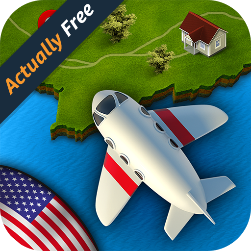 GeoFlight USA - Fun geography quiz game to learn states, cities and capitals of the United (Geography Games Kids)