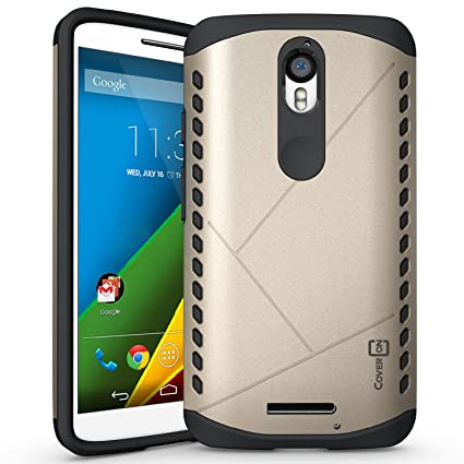 Droid Turbo 2 Case, CoverON [Paladin Series] Slim Fit Hard Protective Modern Style