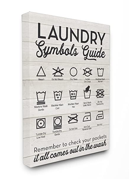 Amazon Stupell Home Dcor Laundry Symbols Guide Typography