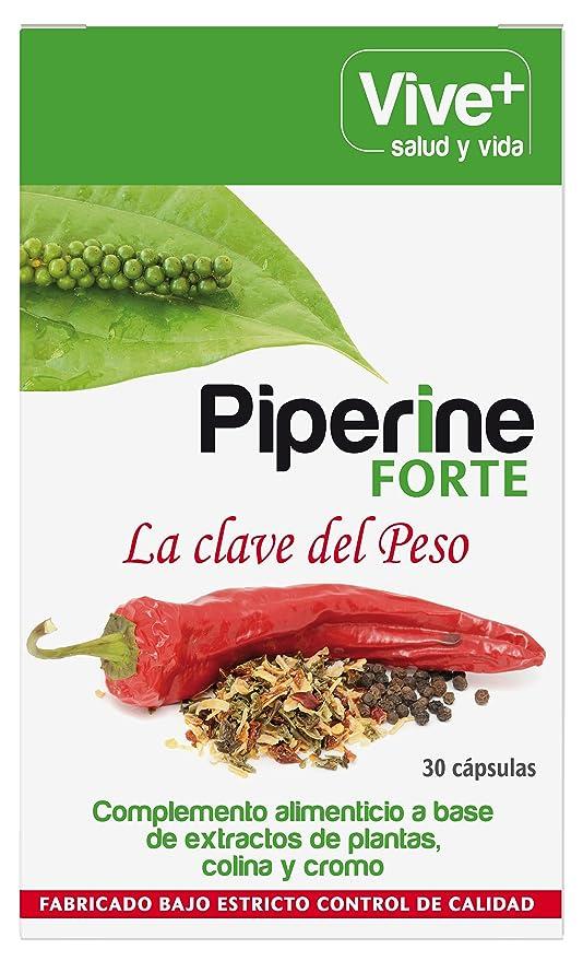 Vive+ Piperina Forte, Suplemento Alimenticio - 3 Paquetes de 30 Cápsulas