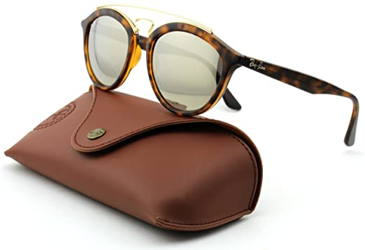 81ef49770c Image Unavailable. Image not available for. Color  Ray-Ban RB4257 Woman  Round Mirror Sunglasses (Matte Havana ...