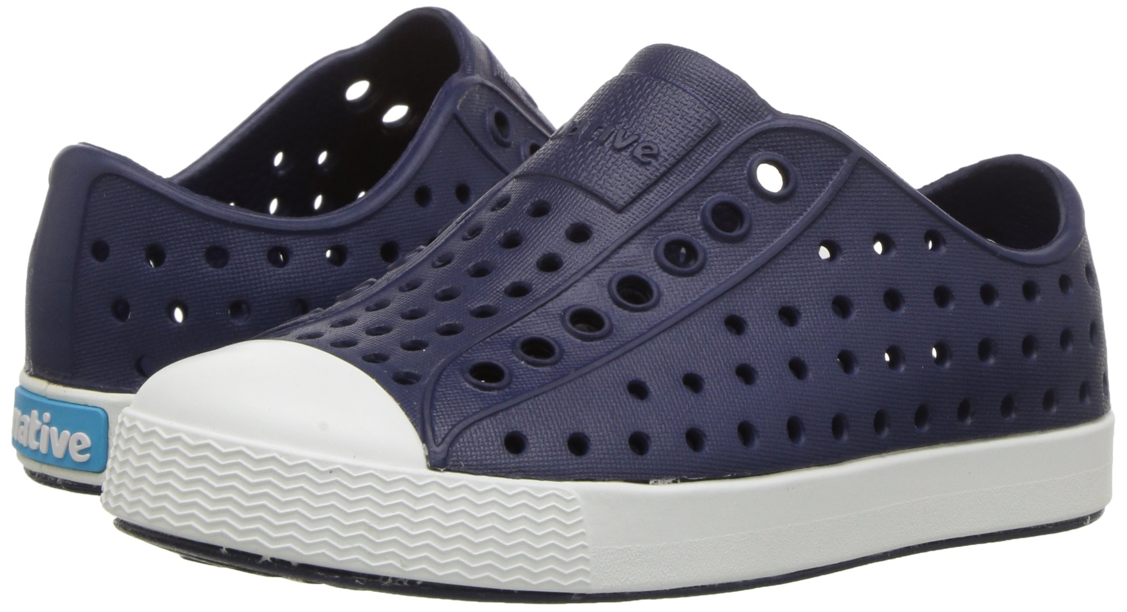 native Kids Jefferson Child Water Proof Shoes, Regatta Blue/Shell White, 6 Medium US Toddler by native (Image #6)