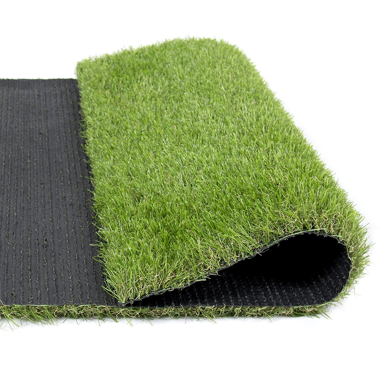 Indoor/Outdoor Green Artificial Grass a Natural Lawn Landscape Fake Grass Artificial Anti-wear Turf Tiles(Autumn color) (3.3'x3.3')
