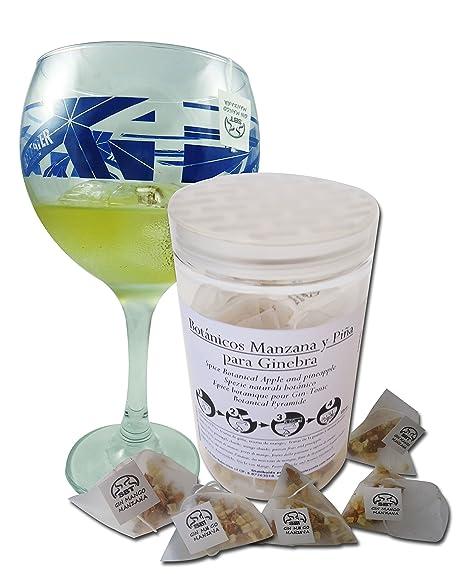 SABOREATE Y CAFE THE FLAVOUR SHOP Botánicos para Gin Tonic Especias Para Cócteles Ginebra Premium Kit Gift Set Gin Manzana Mango Sabor Aroma Natural ...