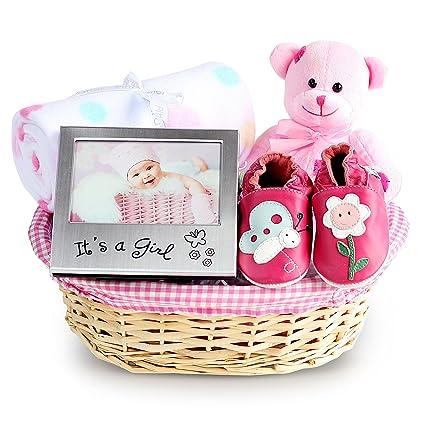 Hermosa cesta de regalo para recién nacido, cesta de bebé recién ...
