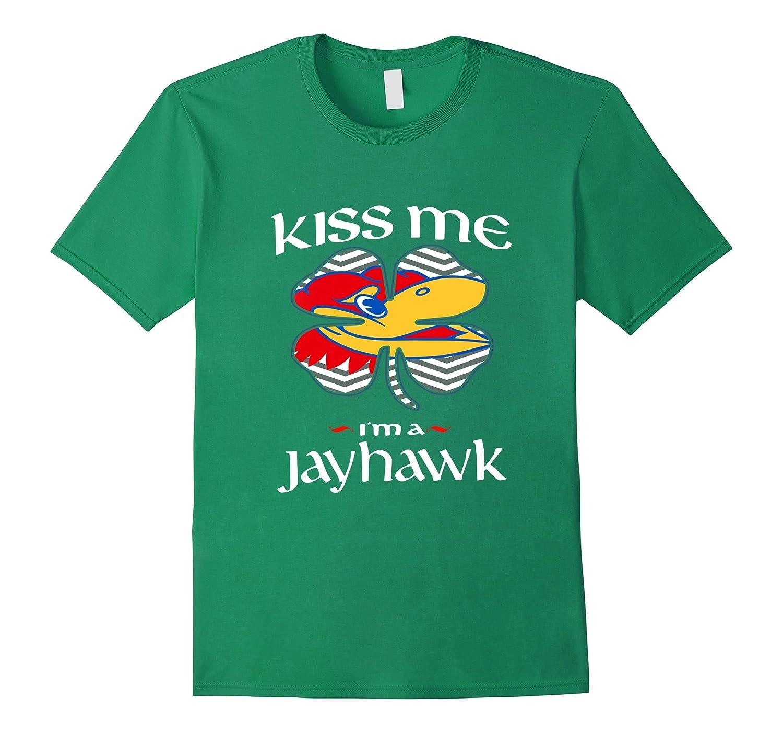 Kansas jayhawk st paddy s day celebration shirt rt for Funny kansas jayhawks t shirts