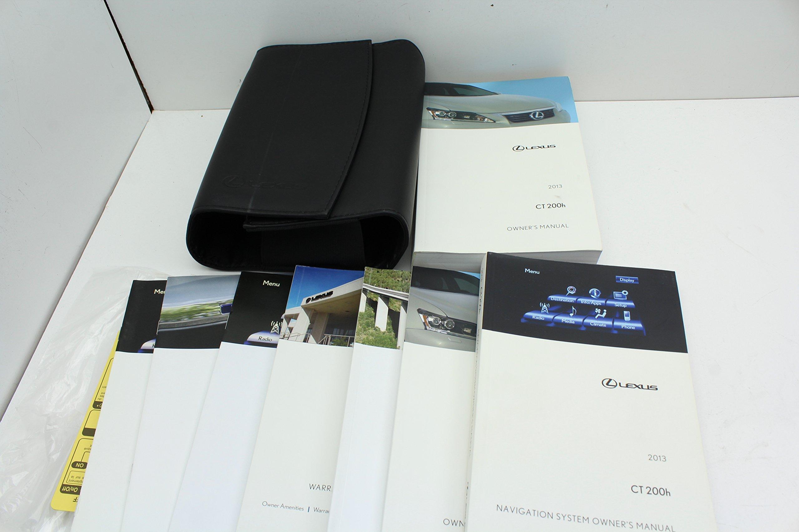 2013 lexus ct200h owners manual amazon com books rh amazon com lexus ct200h owner's manual 2016 ct200h owners manual