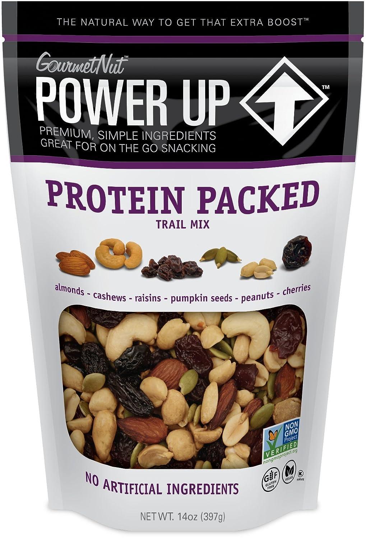 Power Up Trail Mix, Protein Packed Trail Mix, Non-GMO, Vegan, Gluten Free, Keto-Friendly, Paleo-Friendly, No Artificial Ingredients, Gourmet Nut, 14 oz Bag