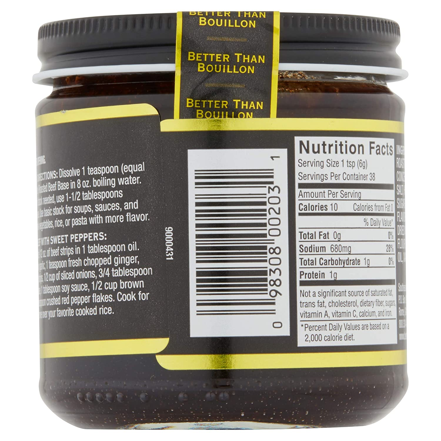 Amazon.com : Better Than Bouillon Beef Base 8 oz : Grocery & Gourmet Food