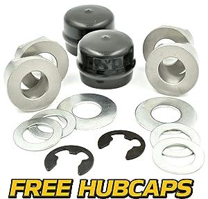 HD Switch Front Wheel Bearings Kit Replaces Husqvarna Craftsman Poulan Jonsered AYP 532009040 9040 9040H 121748X 121749X 12000029 - John Deere M123811 M123253 R27434 24H1398 Z9972H
