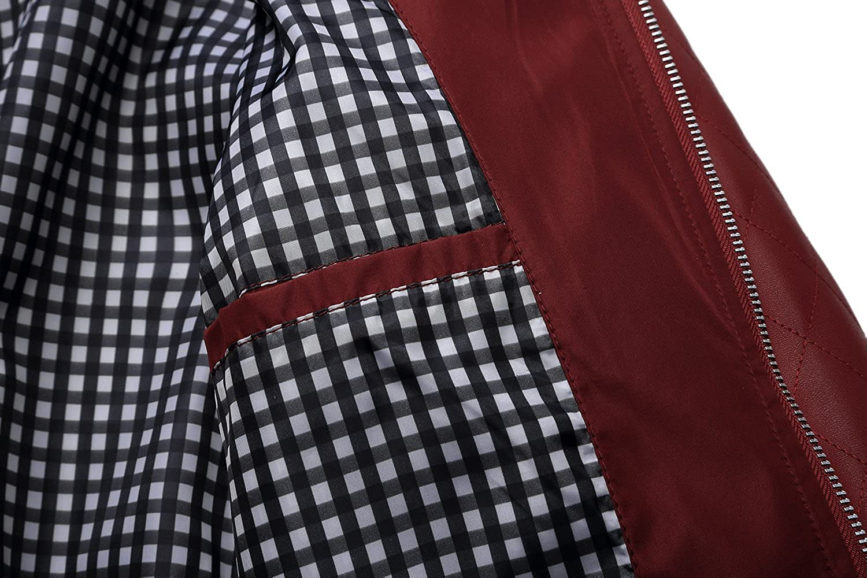 Tanming Mens Color Block Slim Casual Thin Lightweight Varsity Jackets Tanming-100380