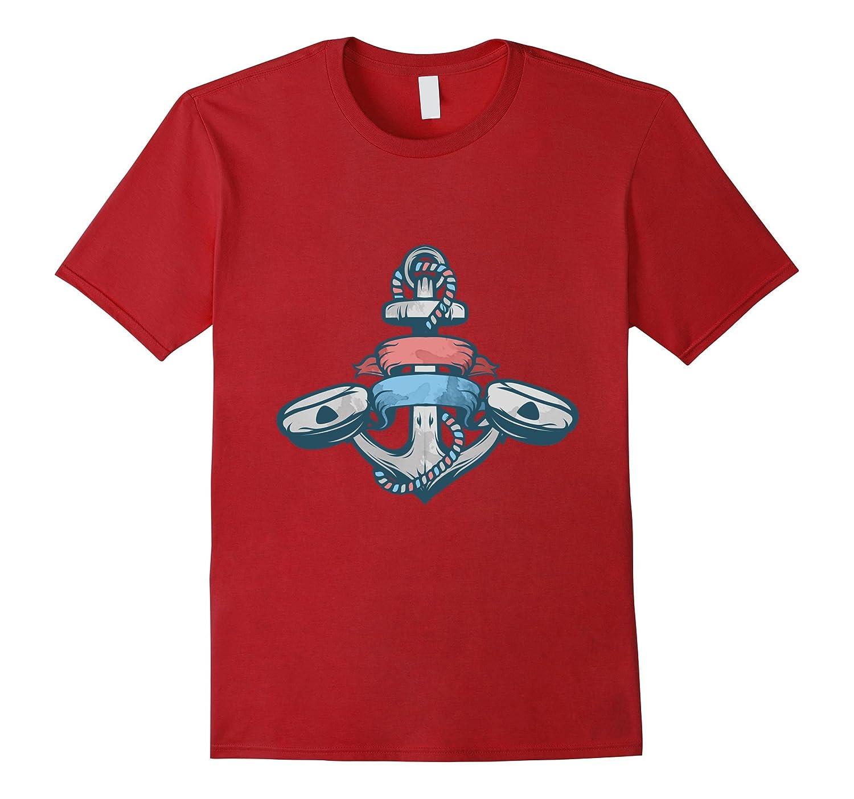 Anchor Design Boat Lovers Sea Captain T-shirt-PL
