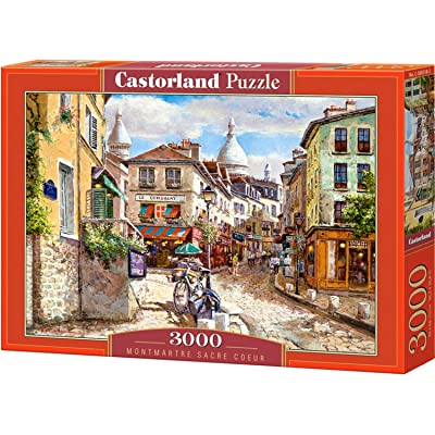 Puzzles for Adults – 3000 Piece Jigsaw Puzzle - Europe Puzzle - Montmartre Sacre Coeur - Easy Puzzle for Adults - Scenic Puzzles for Adults - Puzzle Art - City Puzzles for Adults: Toys & Games