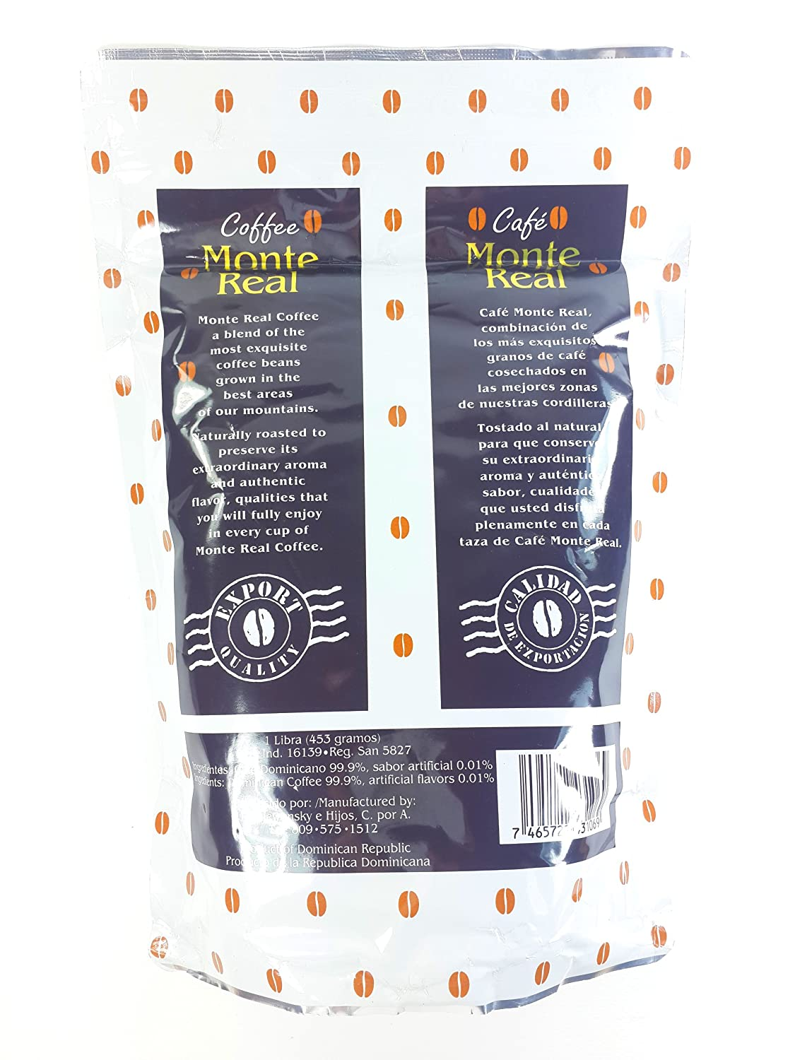 Amazon.com : Monte Real Ground Dominican Coffee 4 Bags / Pounds Pack : Grocery & Gourmet Food