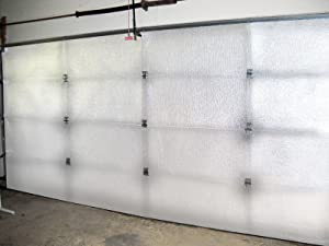 NASATECH White (Pre-cut 8 Panel) 1 Car Garage Door Insulation Foam Kit Energy Star Rated R8 Fits 8x7 8x8 9x7 9x8