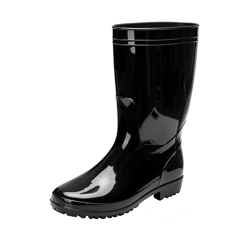 58289ec91dc Comwarm Men Waterproof Snow Rain Boots Anti-Slip PVC Black Adult Outdoor  Work Rubber Boots