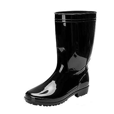 11b101c97b3 Comwarm Men Waterproof Snow Rain Boots Anti-Slip PVC Black Adult Outdoor  Work Rubber Boots