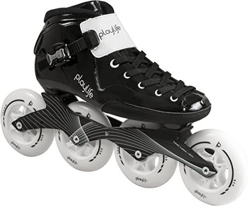 Playlife Youth Powerslide Performance Inline Speed Skates – Glass-Fiber Heat Moldable EU 46 Adult 13