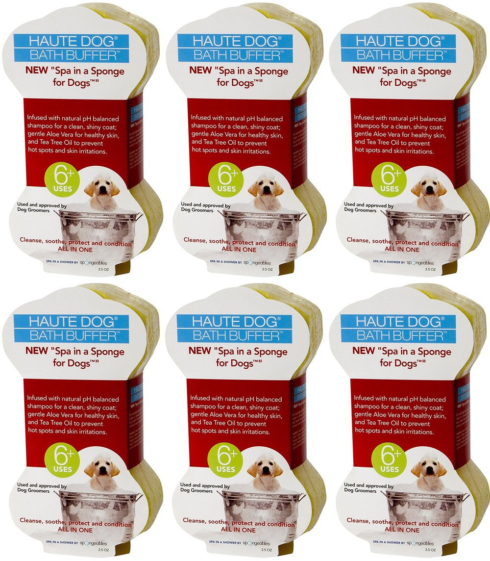 Spongeables Spa-In-a-Sponge for Dogs, 2.5oz (6 Sponges)