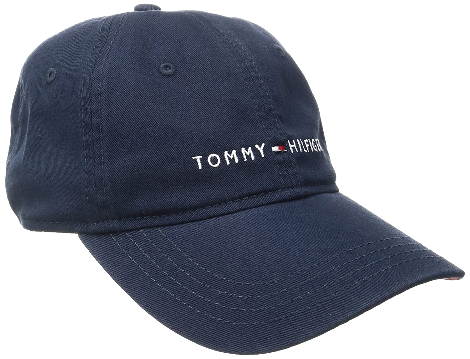 premium selection 4eabc 9f184 Tommy Hilfiger dad hat featuring our classic Hilfiger logo. Logo flag  embroidery. Adjustable metal buckle closure. Six-panel design for  durability and ...