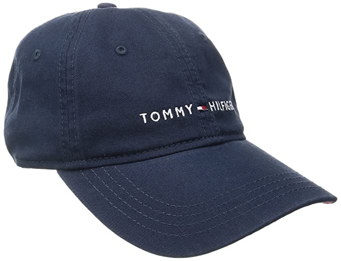 fc0d106761a Image Unavailable. Image not available for. Colour  Tommy Hilfiger Men s  Logo Dad Baseball Cap