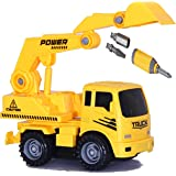 Toys Bhoomi 2-in-1 Friction Powered Take-A-Part Construction Excavator Vehicle Truck Playset