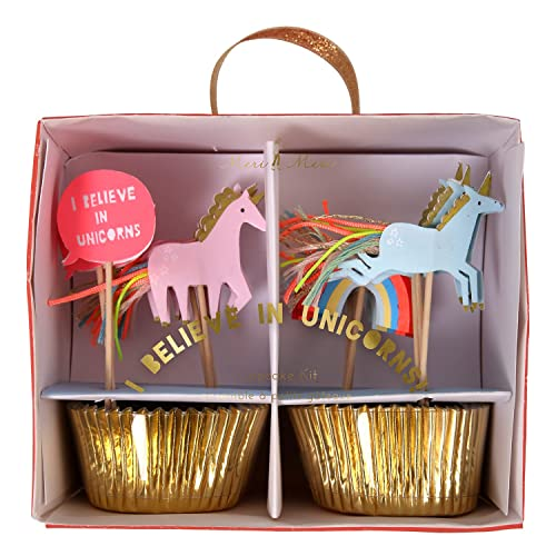 Meri Meri 45-2311 I Believe in Unicorns Cupcake Kit Novelty