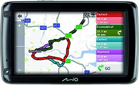 MIO Spirit 697 - Navegador GPS con mapas de Europa (pantalla táctil de 5