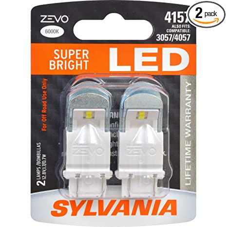 Amazon.com: SYLVANIA - 4157 ZEVO LED White Bulb - Bright LED Bulb, Ideal for Daytime Running Lights (DRL) and Back-Up/Reverse Lights (Contains 2 Bulbs): ...