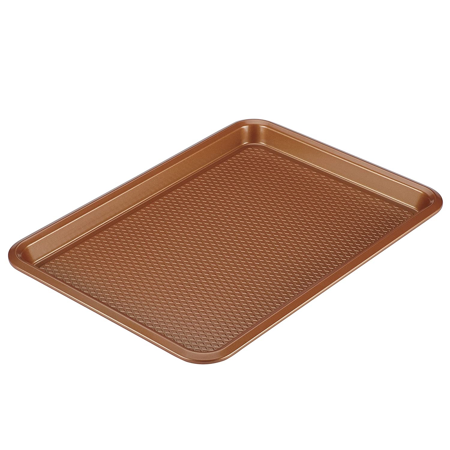 Ayesha Curry 46998 Nonstick Bakeware, Nonstick Cookie Sheet / Baking Sheet - 10 Inch x 15 Inch, Copper Brown