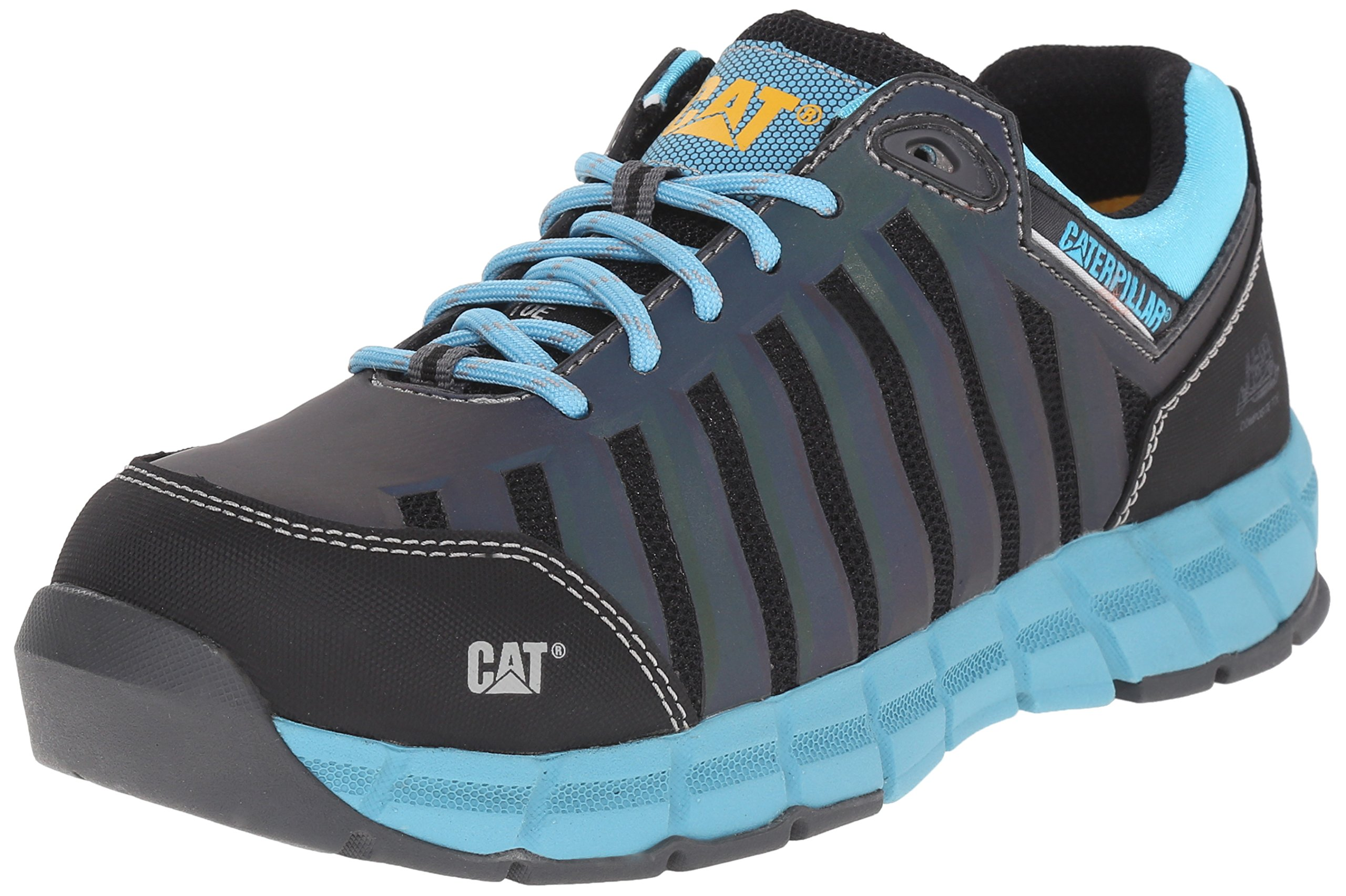 Caterpillar Women's Chromatic Oxford Athletic Comp Toe, Maui Blue, 8 W US