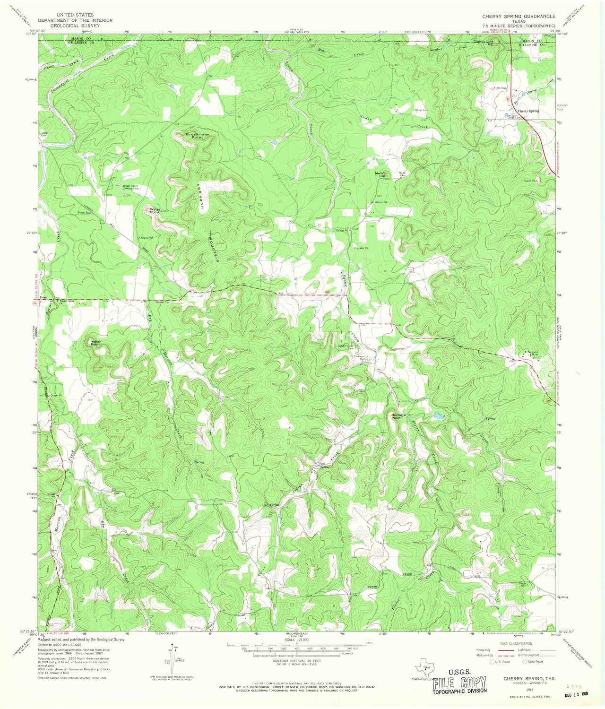 Amazon Com Yellowmaps Cherry Spring Tx Topo Map 1 24000 Scale