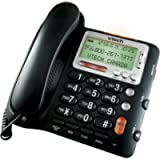 VTech CD1281 Corded Big Button Telephone with Speakerphone, Volume Boost and Caller ID (Black)