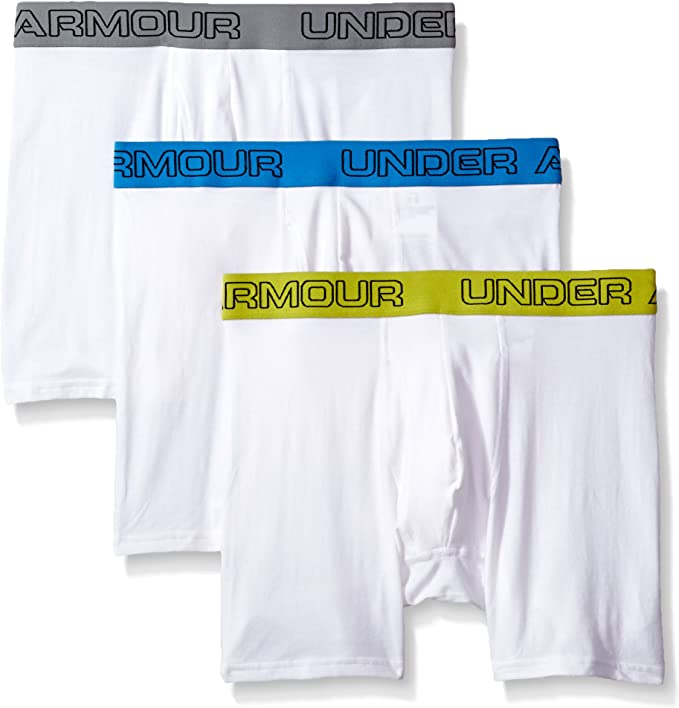 """Under Armour Men's Under Armor Charged Cotton Stretch 6"""" Boxerjock – 3-Pack"""
