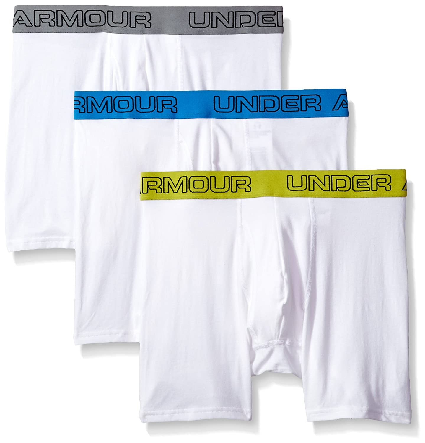 """Under Armour Men's Charged Cotton Stretch 6"""" Boxerjock 3-Pack Under Armour Apparel 1277279"""