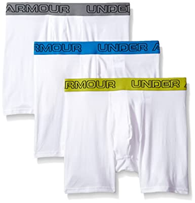 "70f588e79b17 Under Armour Boxerjock-3-Pack Men's Charged Cotton Stretch 6"" Boxerjock  3-"