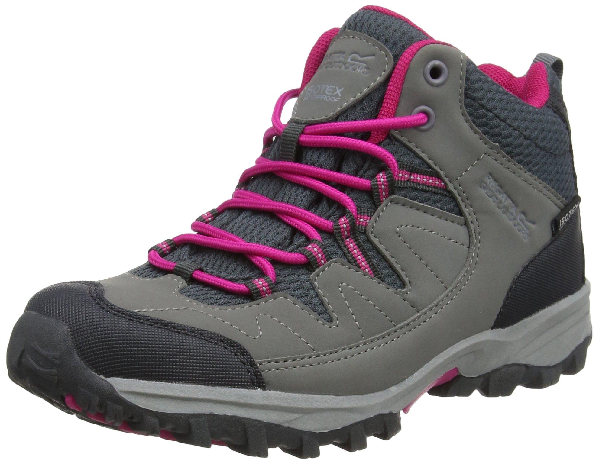 Regatta Kid's Trail Holcombe Mid Walking Boots 11 US Steel/Vivacious Pink