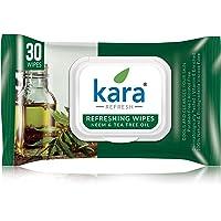 Kara Face Wipe - Cleansing & Hydrating, Refreshing, Neem & Tea Tree, 30 Wipes