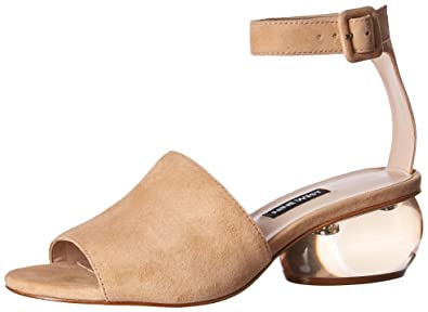 061fd1b3a34 Nine West Women s Enyo Heeled Sandal Light Natural Suede 5 M US