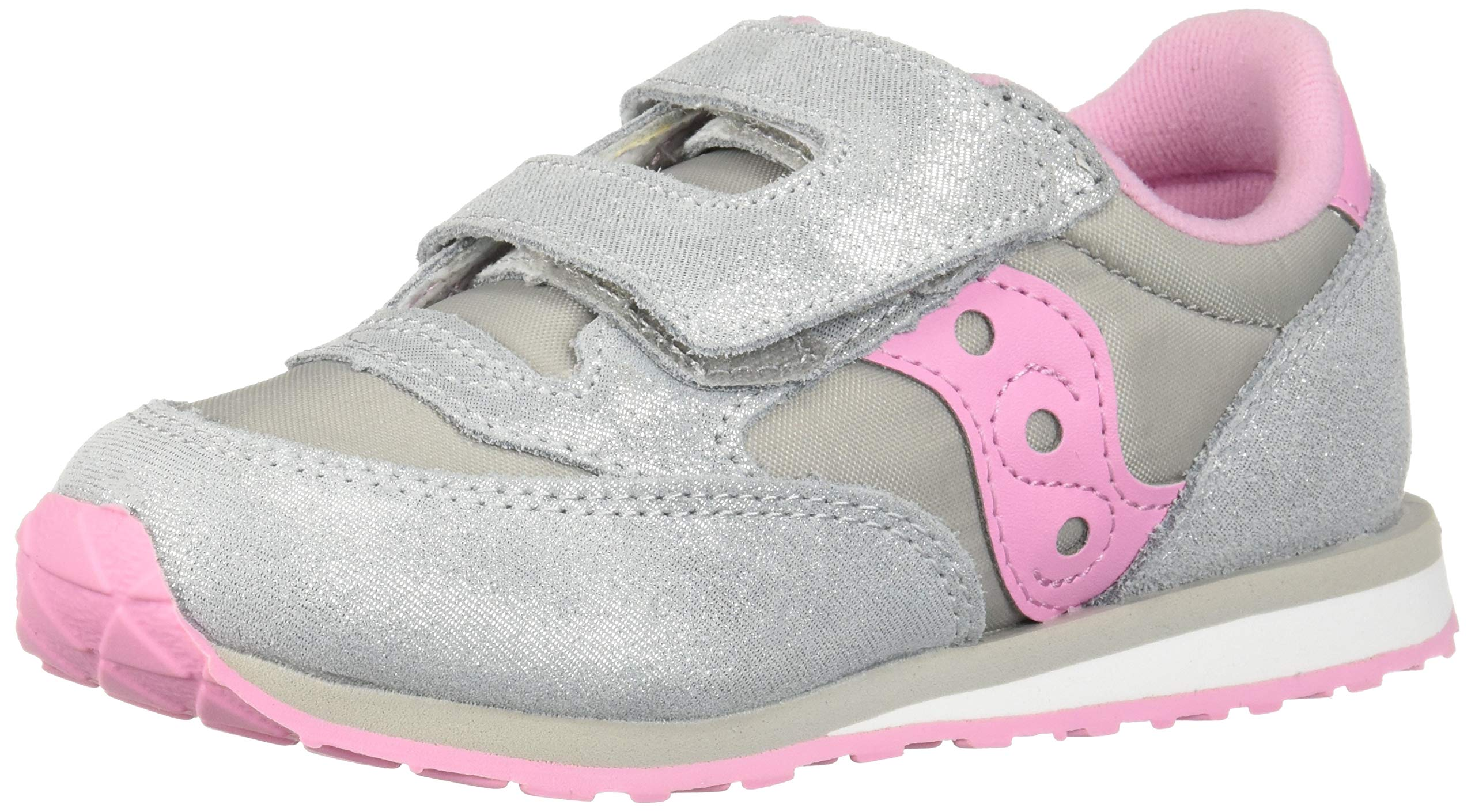 Saucony Baby Jazz Hook & Loop Sneaker Little Kid 8.5 Silver/Pink