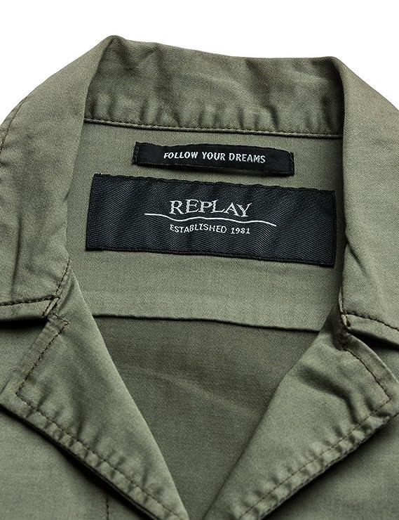 Replay Damen W7253C.000.80655G Jacke, Grün (Combat Green 835