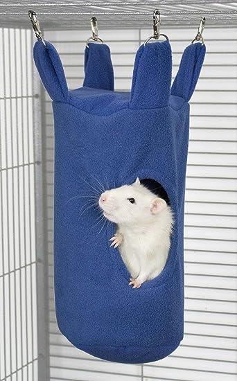 Rodents Residence Zylinder Kuschelhängematte Kleintier Hängematte Höhle  Haus Ratte Chinchilla Frettchen Hamster Degu