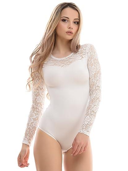 Evoni Body - Femme Blanc Ivoire Small  Amazon.fr  Vêtements et ... 9360b844ab3