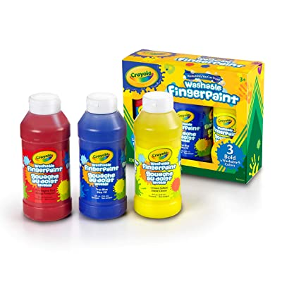 Crayola 8-Ounce Primary Washable Fingerpaint (3 Count): Toys & Games