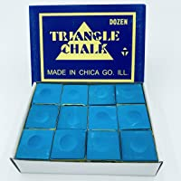 manqianxun Pool Cue Chalk Cubes, 12-Pack -Table BilliardsStick Bulk Supplies