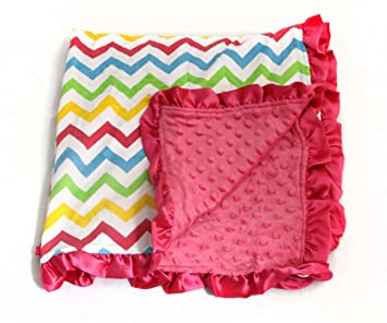 Amazon.com: Bebé Minky recibir manta – arco iris caliente ...